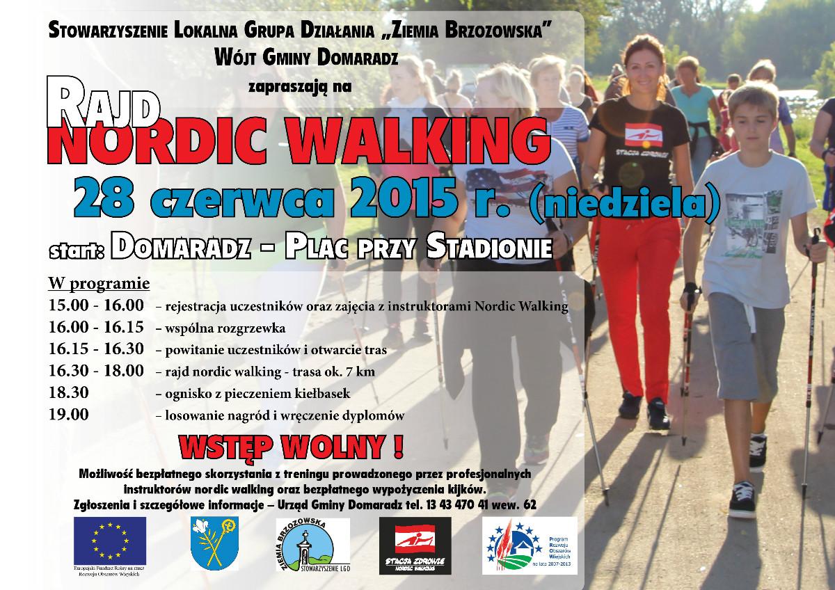 Rajd Nordic Walking w Domaradzu