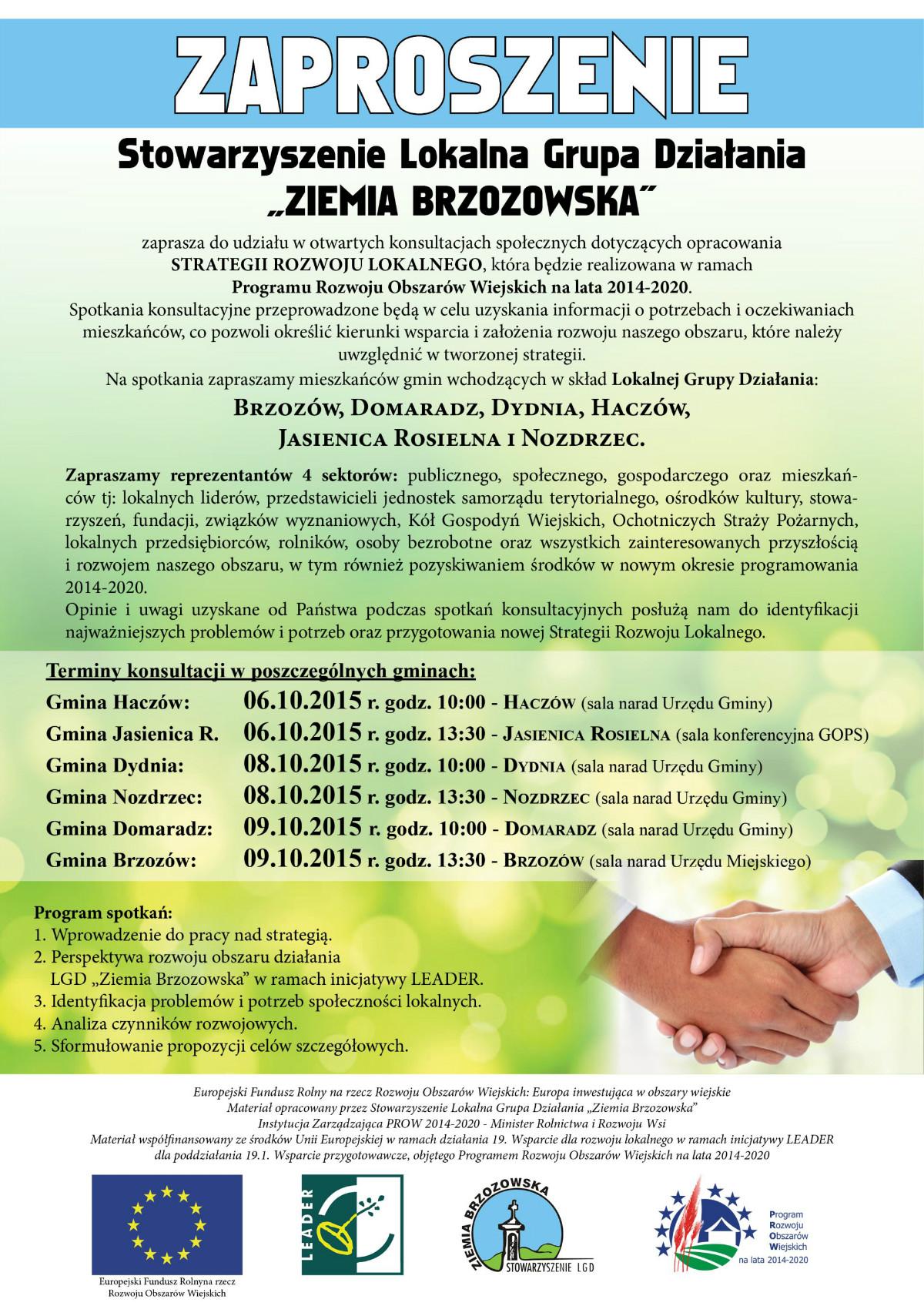 Zaproszenie LGD strategia