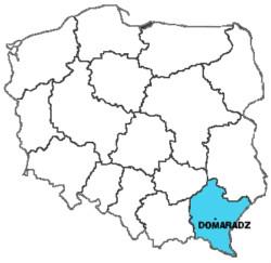 Domaradz na mapie Polski